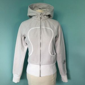 Lululemon Striped LOVE Scuba Jacket